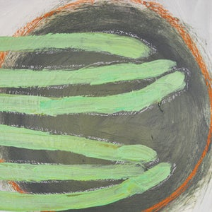 Image of Huge Painting, 'When Air is Green like Mosses,' Poppy Ellis