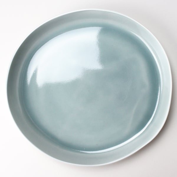 "Image of 14"" serving platter, in celadon"