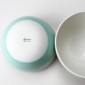 Image of roly soup/cereal/yogurt bowls, set of two, with elephants