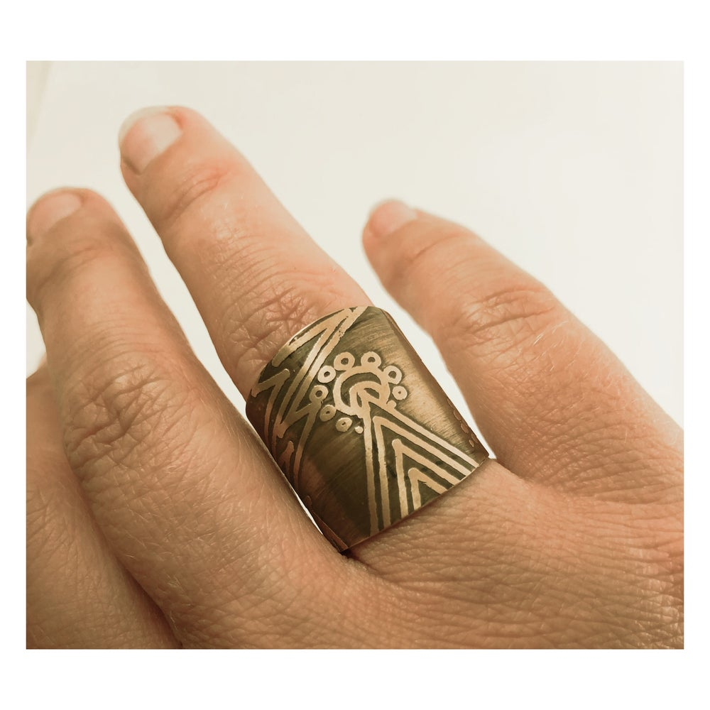 Image of Etched Cuff Rings (all different)