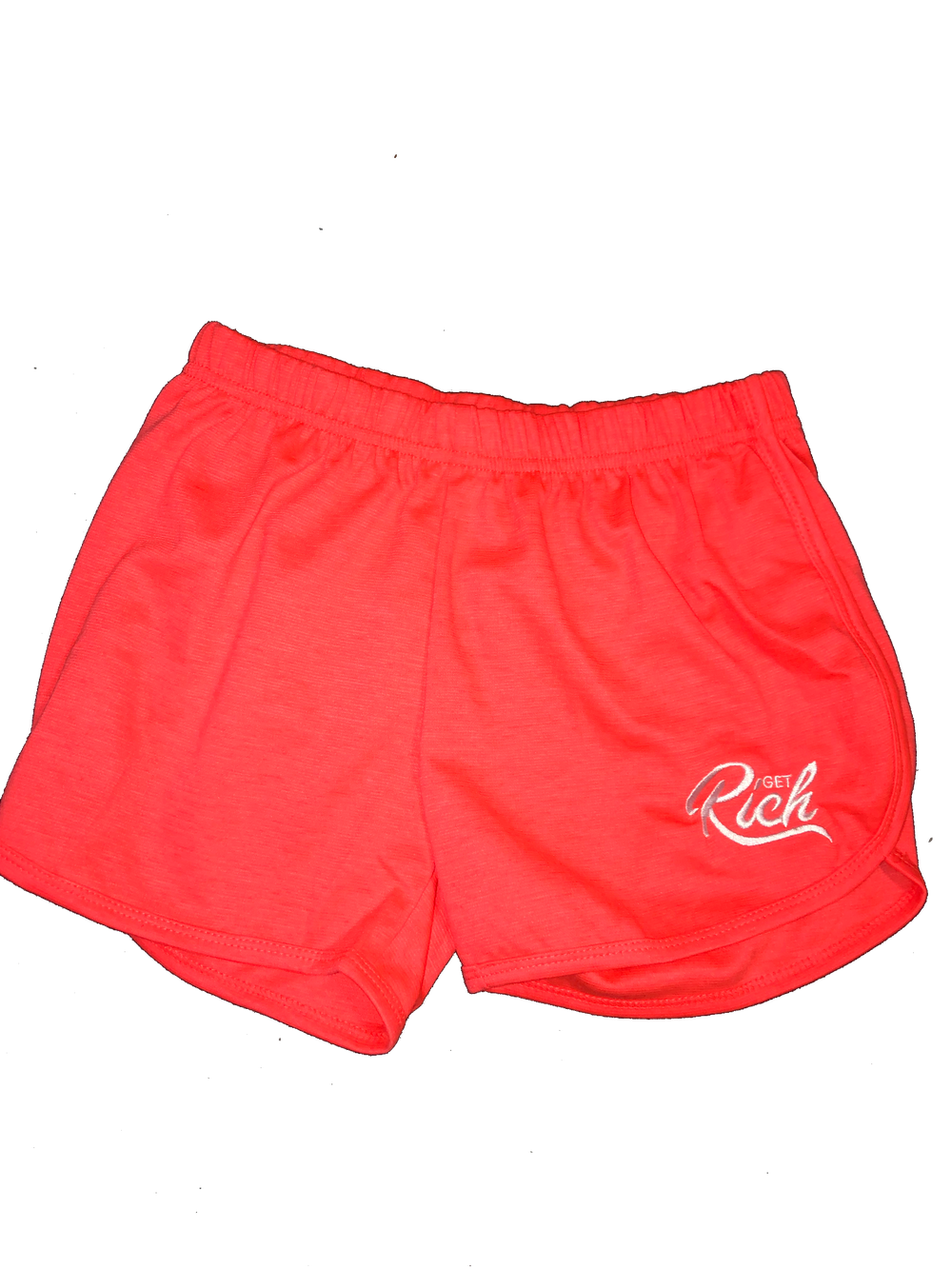 Image of Get Rich - Women's Shorts (Orange)
