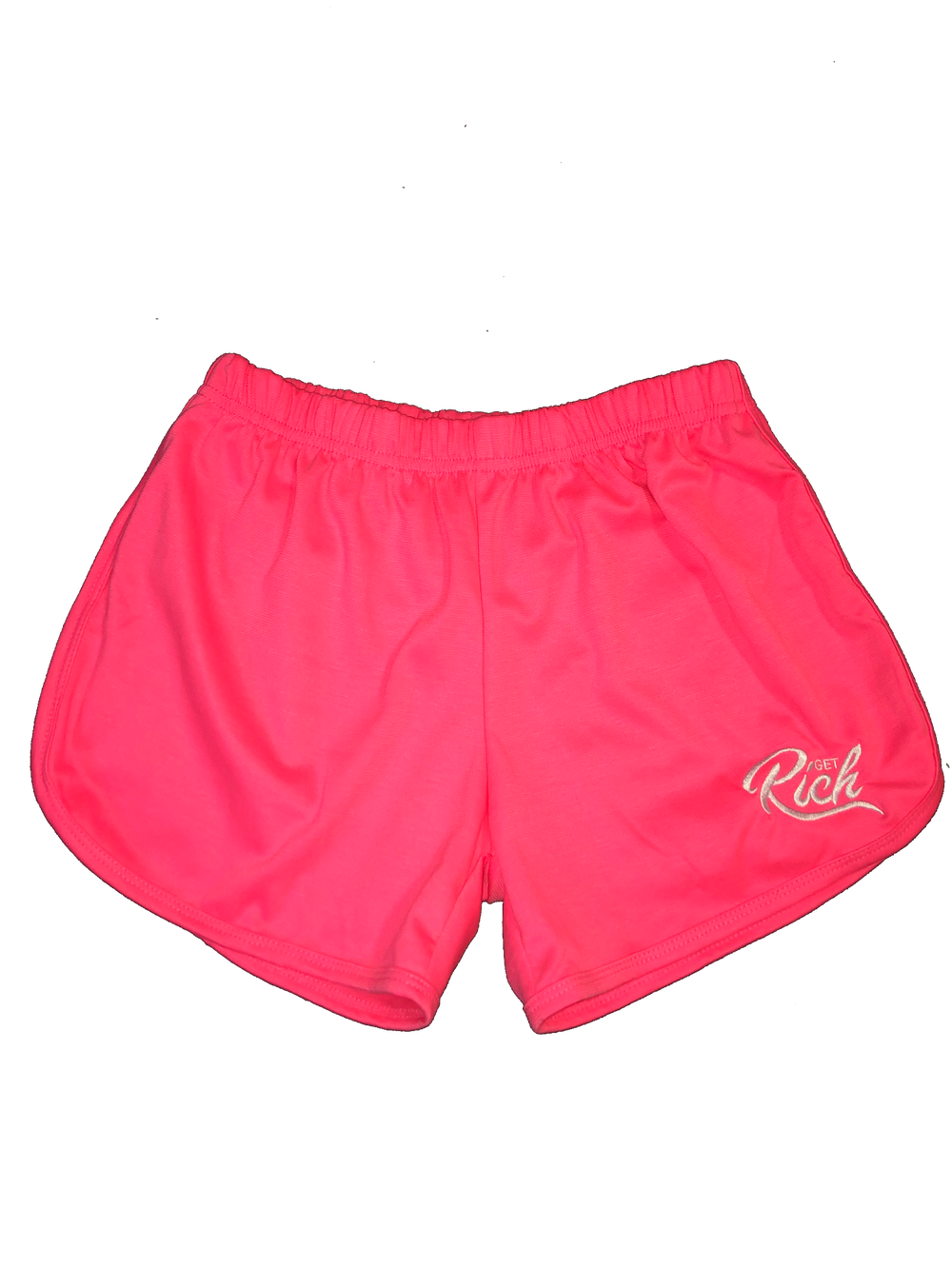 Image of Get Rich - Women's Shorts (Pink)