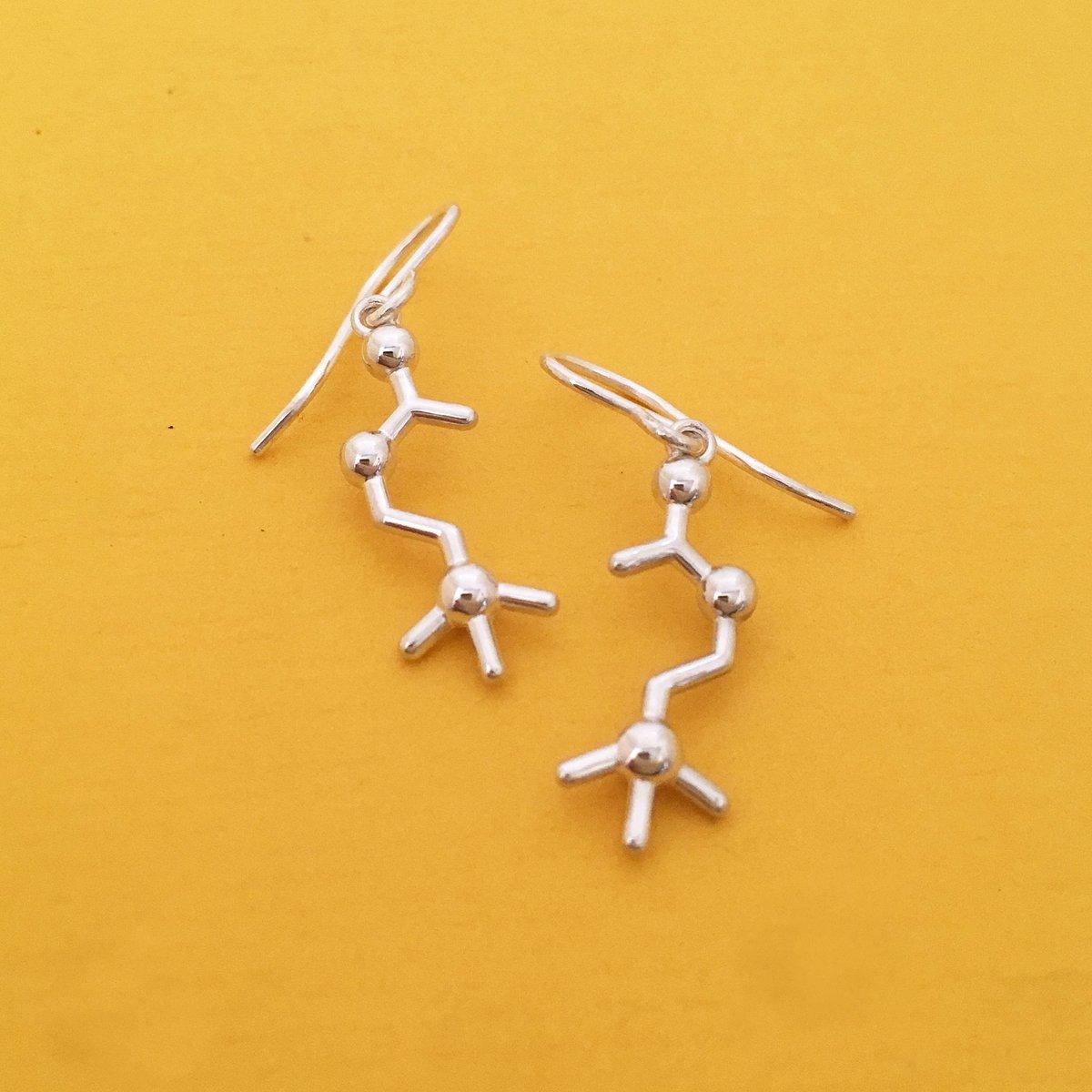 Image of acetylcholine earrings