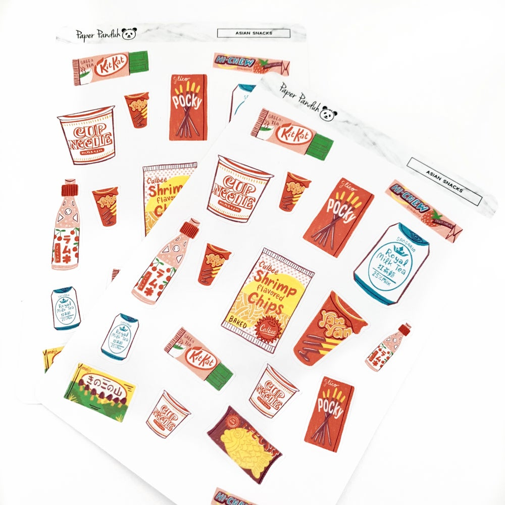 Image of Favorite Asian Snacks Sticker Sheet