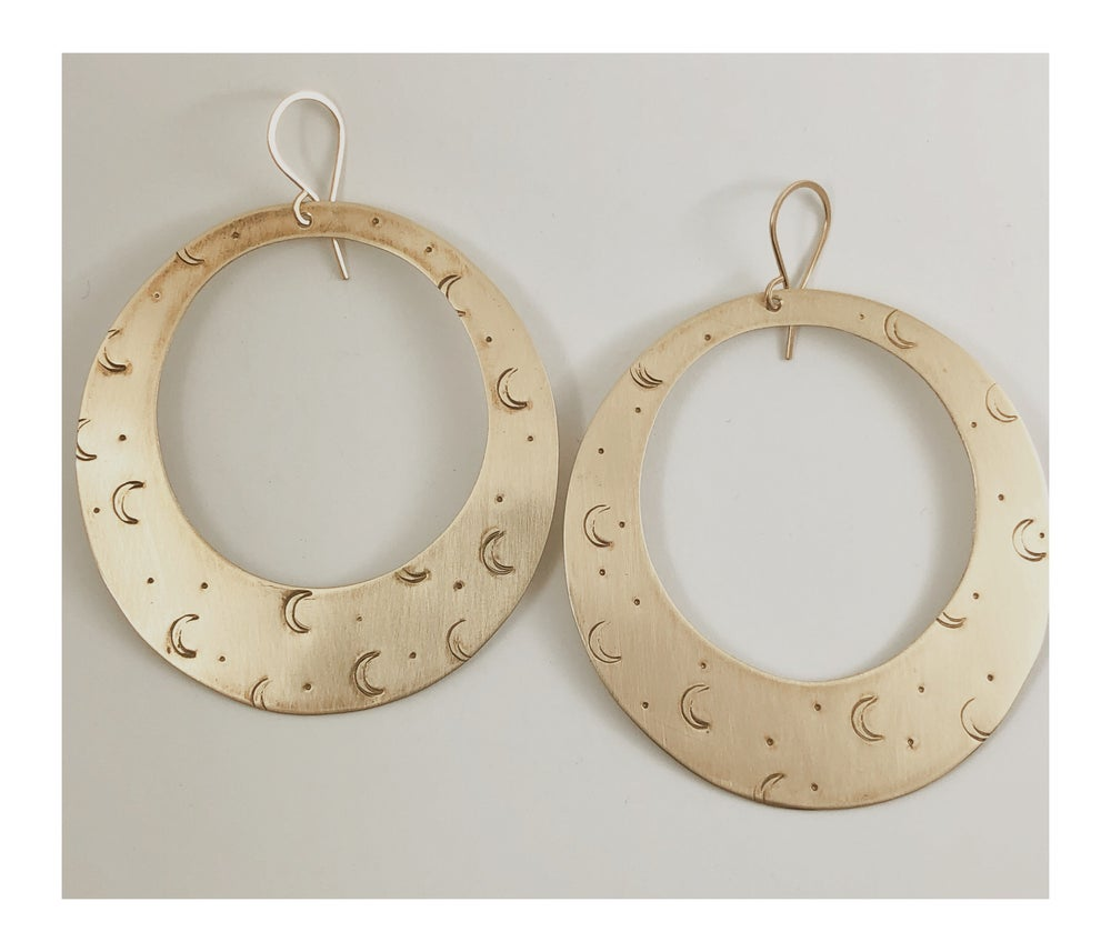 Image of Crescent Moon Hoops