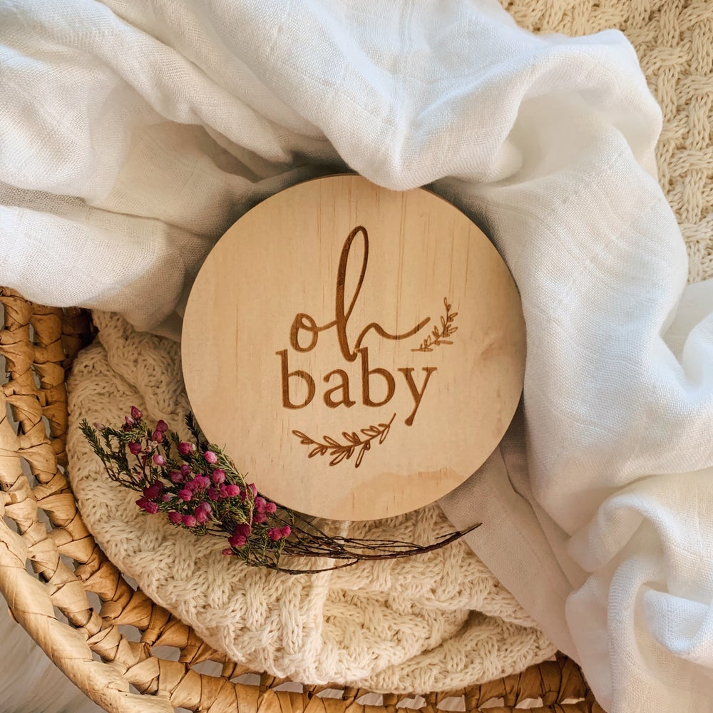 Image of Oh baby | Single announcement plaques