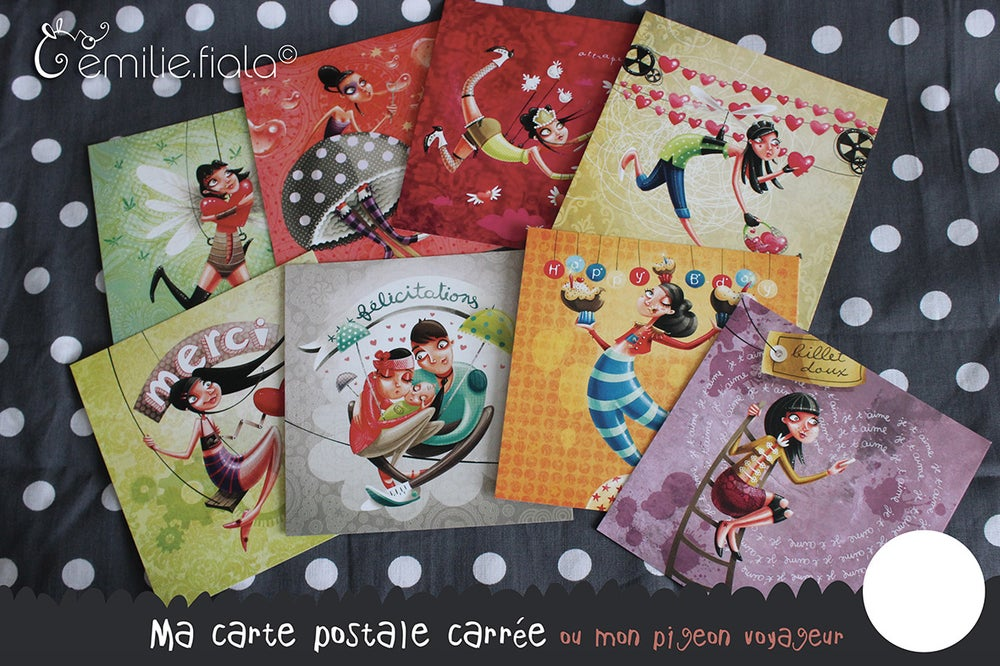 Image of French PostCards - Emilie Fiala (Limited Stock)