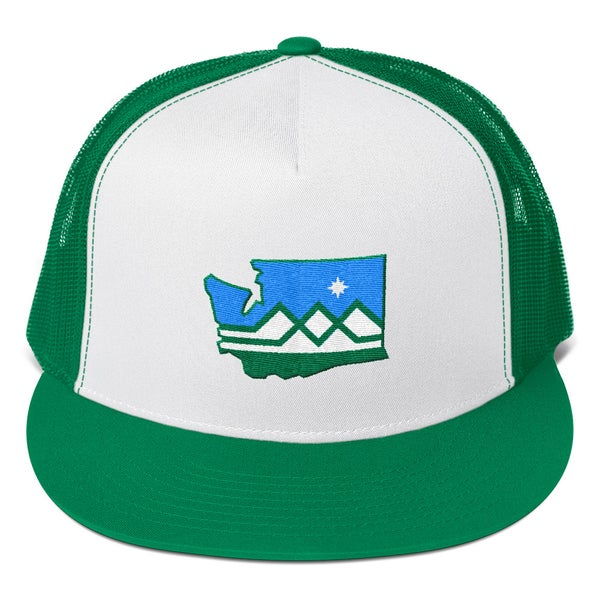 "Image of Washington State Flag ""Westward Wind"" Hat"