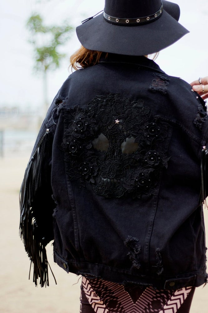 Image of Skull Fringe Jacket