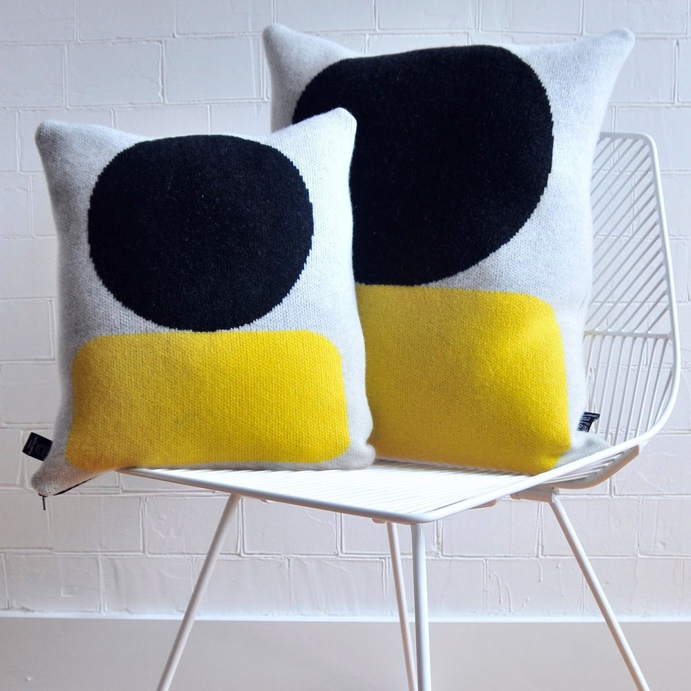 Image of Ellsworth cushion in yellow by Giannina Capitani