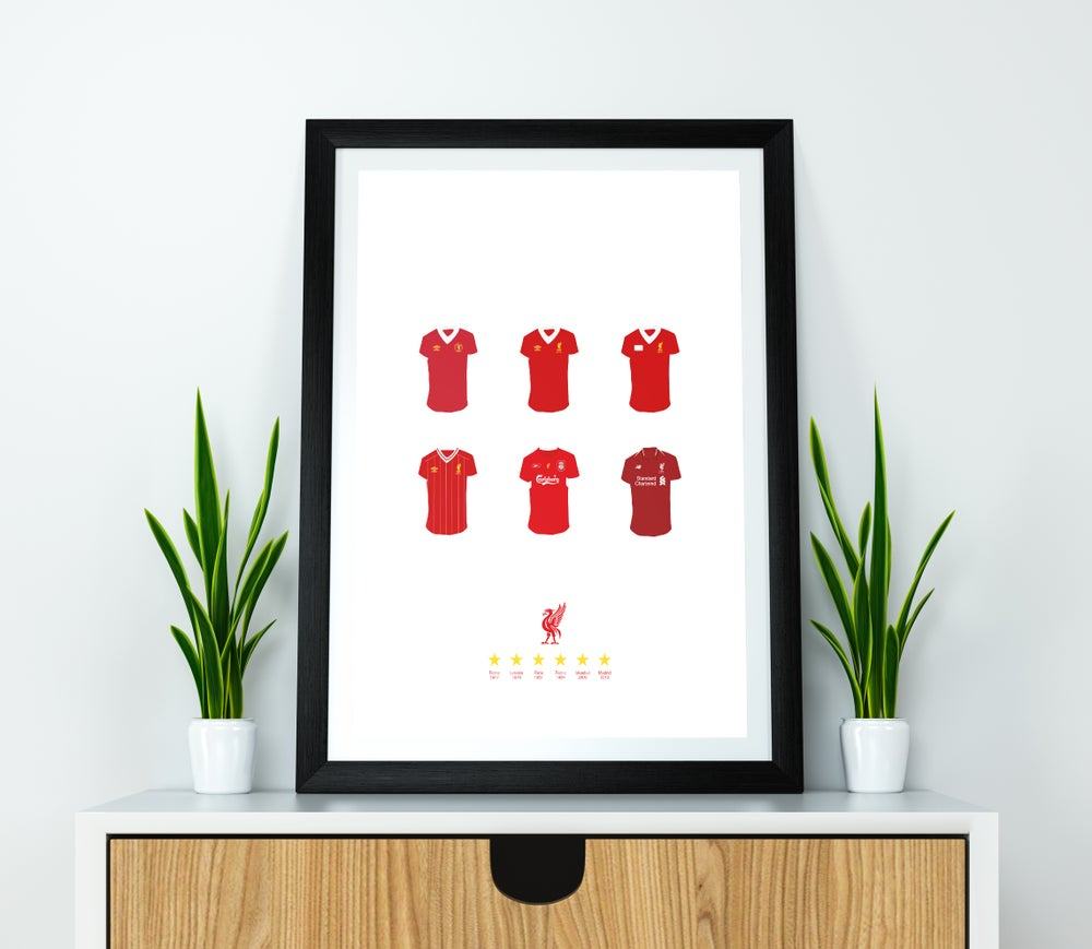 Image of Liverpool FC Champions League Winners Shirts