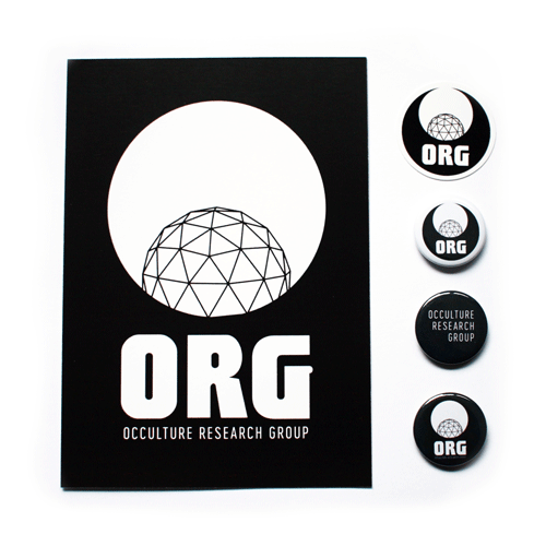 Image of ORG Pin, Postcard and Sticker Set
