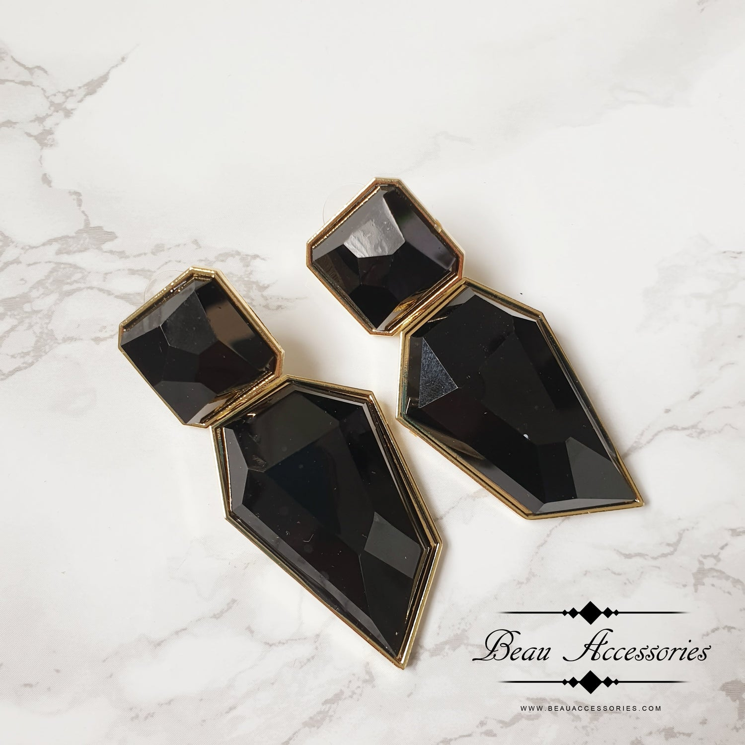 Image of Black Statement Earrings