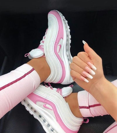 Image of Pink & White Airmax 97