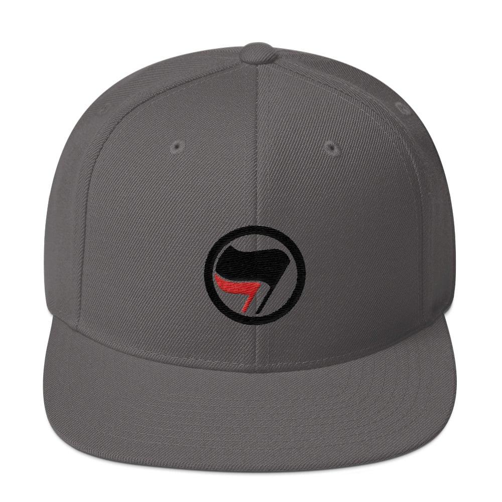 Image of Red Black Flag Antifa Hat