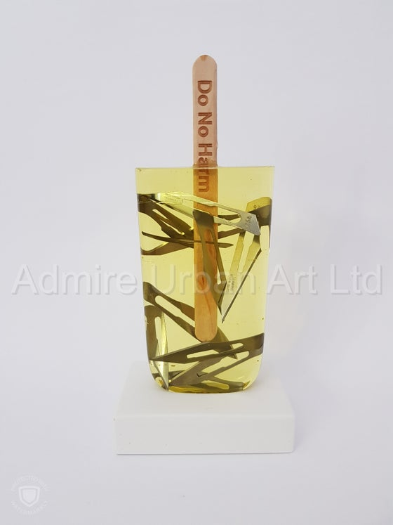 Image of MISS BUGS - DO NO HARM (YELLOW BLADES) - SCULPTURE