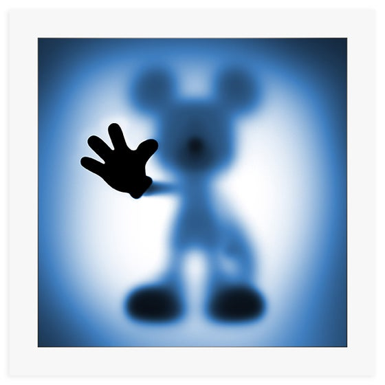 Image of GONE MICKEY (BLUE) - LIMITED EDITION OF JUST 100 - 60CM X 60CM