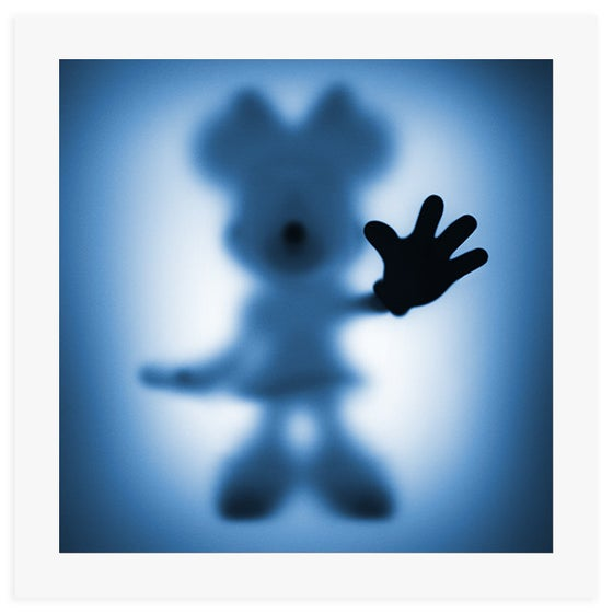 Image of GONE MINNIE (BLUE) - LIMITED EDITION OF JUST 100 - 60CM X 60CM