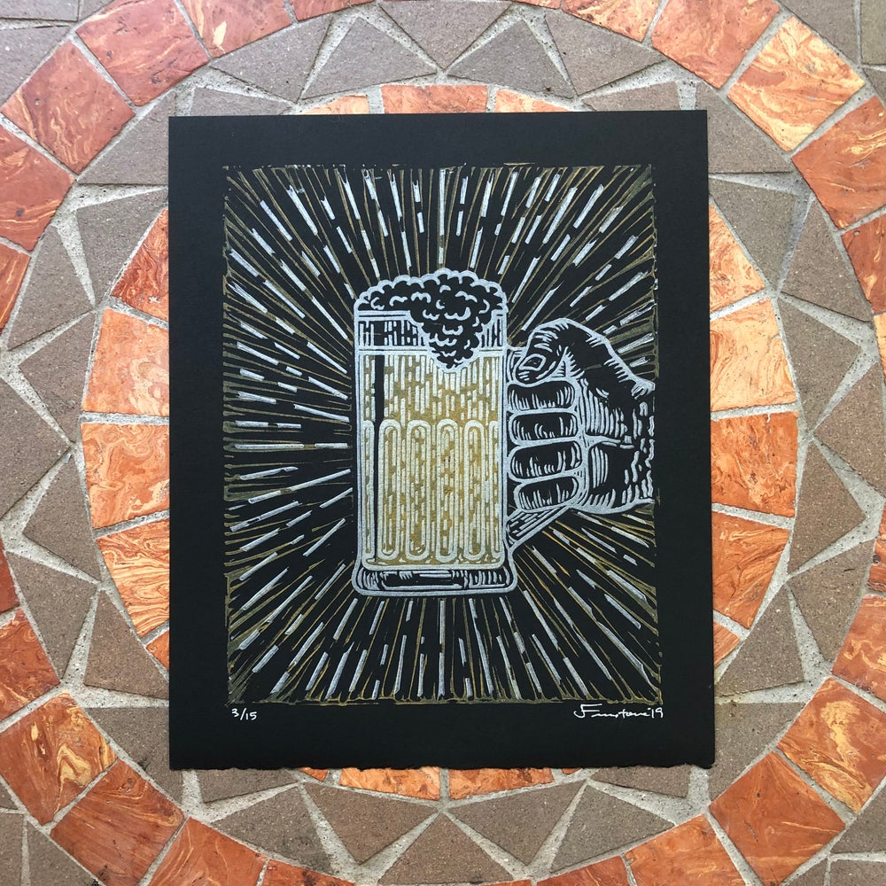 Image of Beer stein print