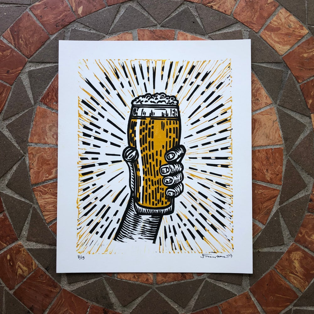 Image of Beer pint print
