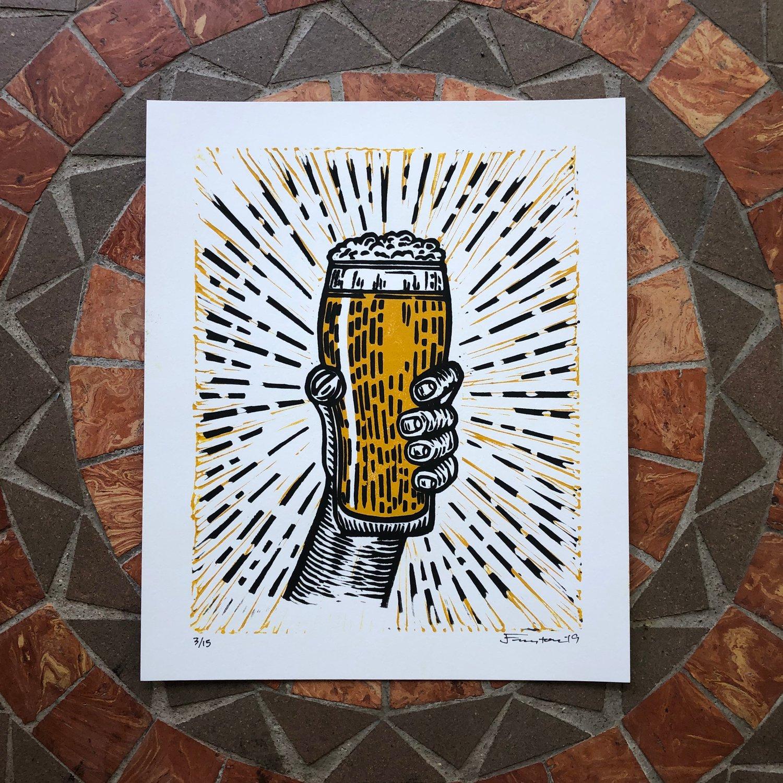 Image of Beer pint print