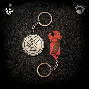 Image of Hellboy/B.P.R.D.: B.P.R.D. Logo & Right Hand of Doom keychain set!
