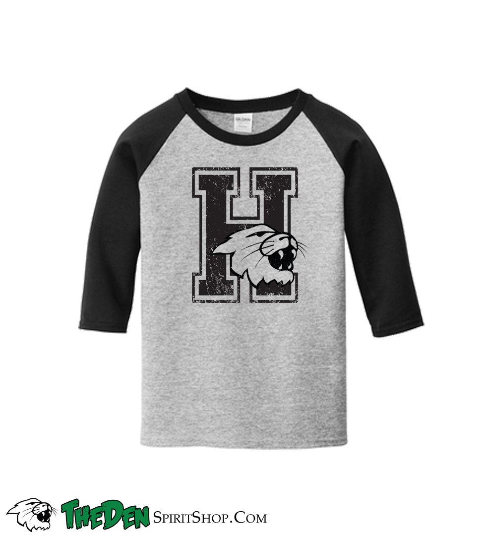 Image of YOUTH, Distressed H, 3/4 Sleeve