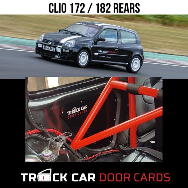 Image of Clio 172/182 REARS - Track Car Door Cards