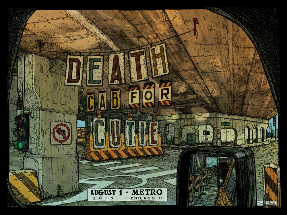 """Image of Death Cab for Cutie (Chicago) • L.E. Official Poster (18"""" x 24"""")"""
