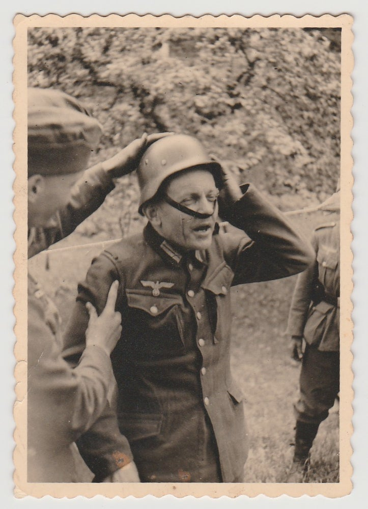 Image of Anonymous: Wehrmacht officer with too small helmet, ca. 1940