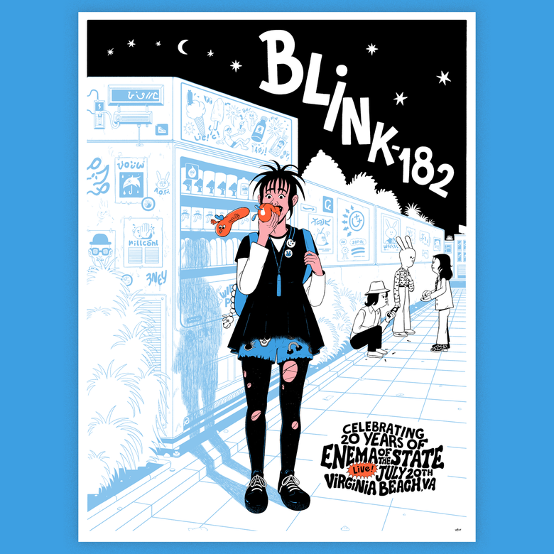 Image of Blink 182 Tour Poster
