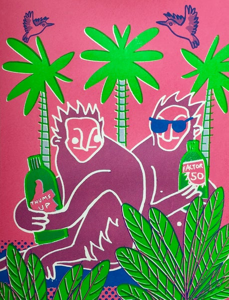 Image of Monkeys On Holiday