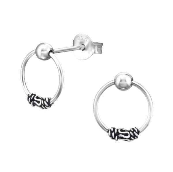 Image of Haraan stud earrings (sterling silver)