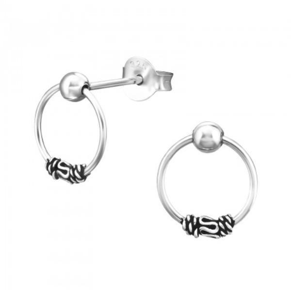 Image of Haraan stud earrings (sterling silver)