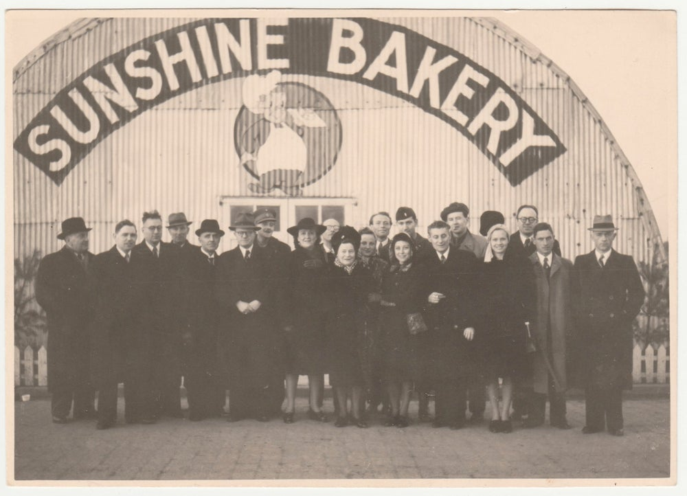 "Image of Anonymous: ""Sunshine Bakery"" at Top Hat camp, Antwerp ca. 1945"