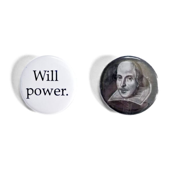Image of William Shakespeare Button Badges