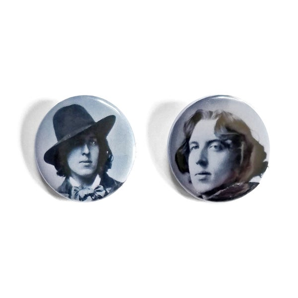Image of Oscar Wilde Button Badges