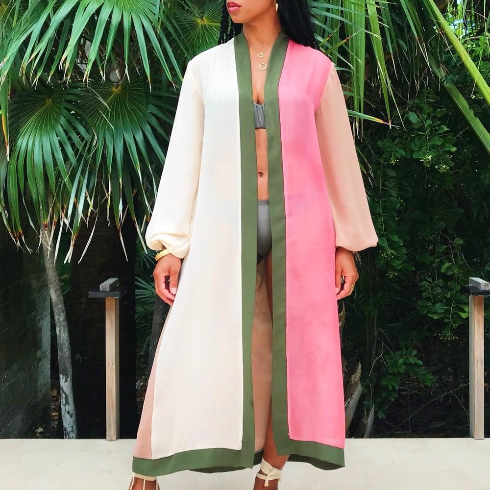 Image of Contrast Kimono