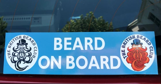 Image of The British Beard Club Beard On Board Rear Window Sticker