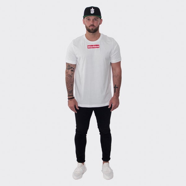 Image of WHITE RED BOX TEE