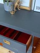 Image 2 of Dark grey Thomas & Greaves 7ft sideboard in dark grey