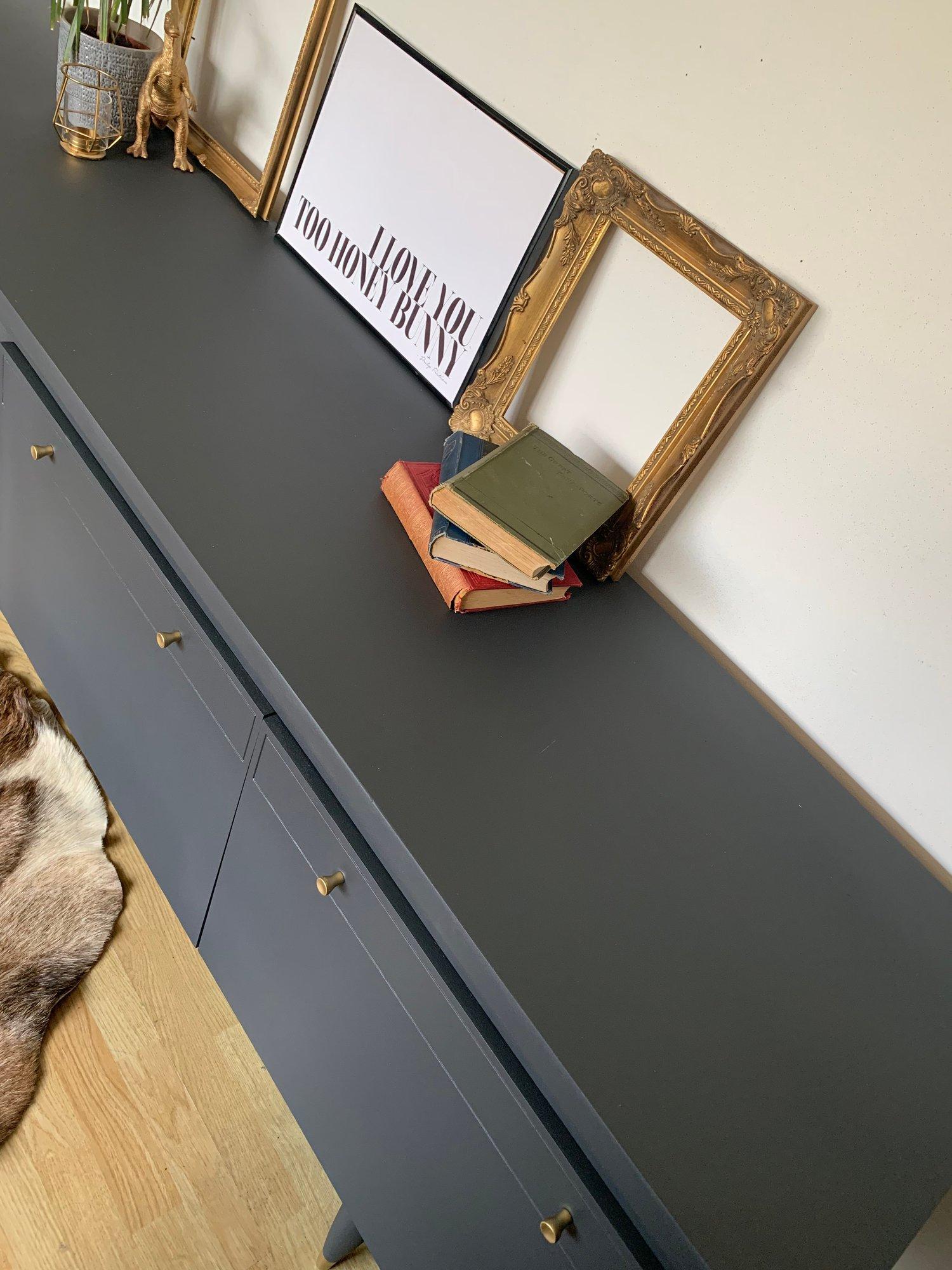 Image of Dark grey Thomas & Greaves 7ft sideboard in dark grey