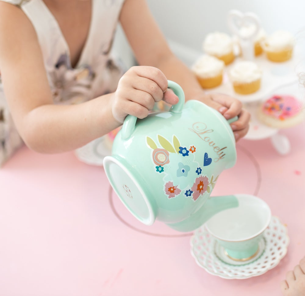 Image of Lovely Mint Tea Set