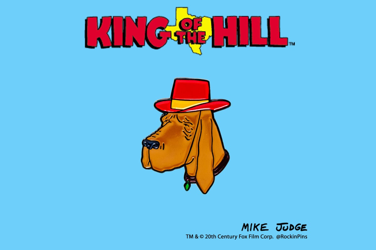 Image of King of the Hill - Ladybird Head Enamel Pin