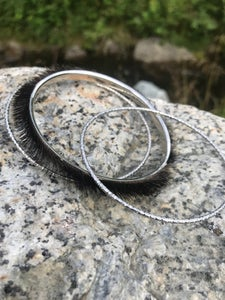 Image of Sealskin Bangles in Silver or gold