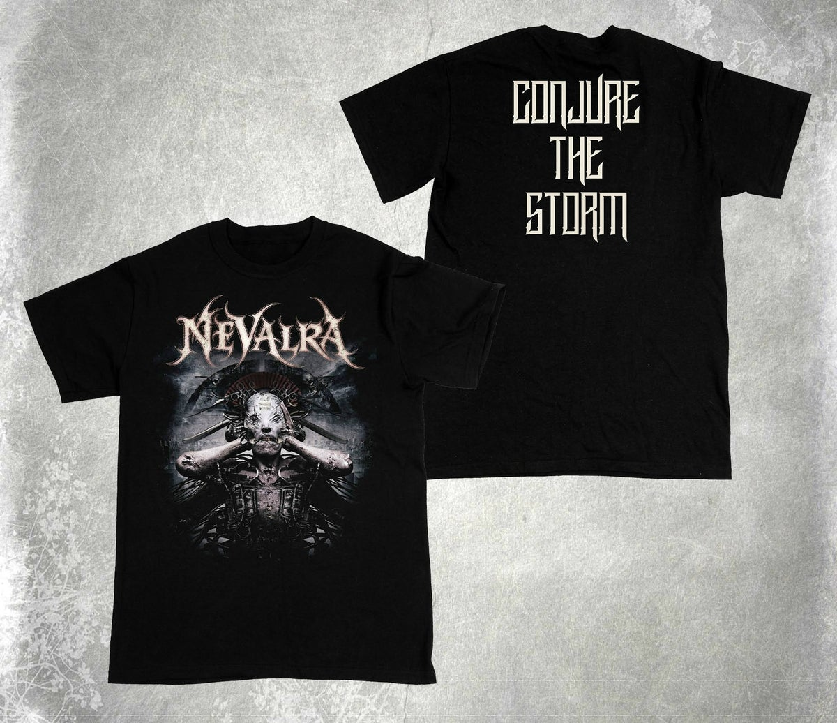 "Image of NEVALRA - ""Conjure the Storm"" Album Cover Shirt"
