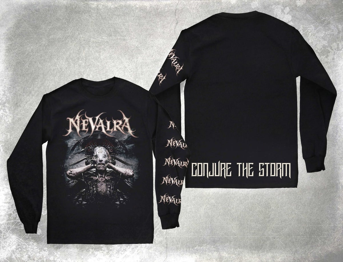 "Image of NEVALRA - ""Conjure the Storm"" Album Cover Long-Sleeve"