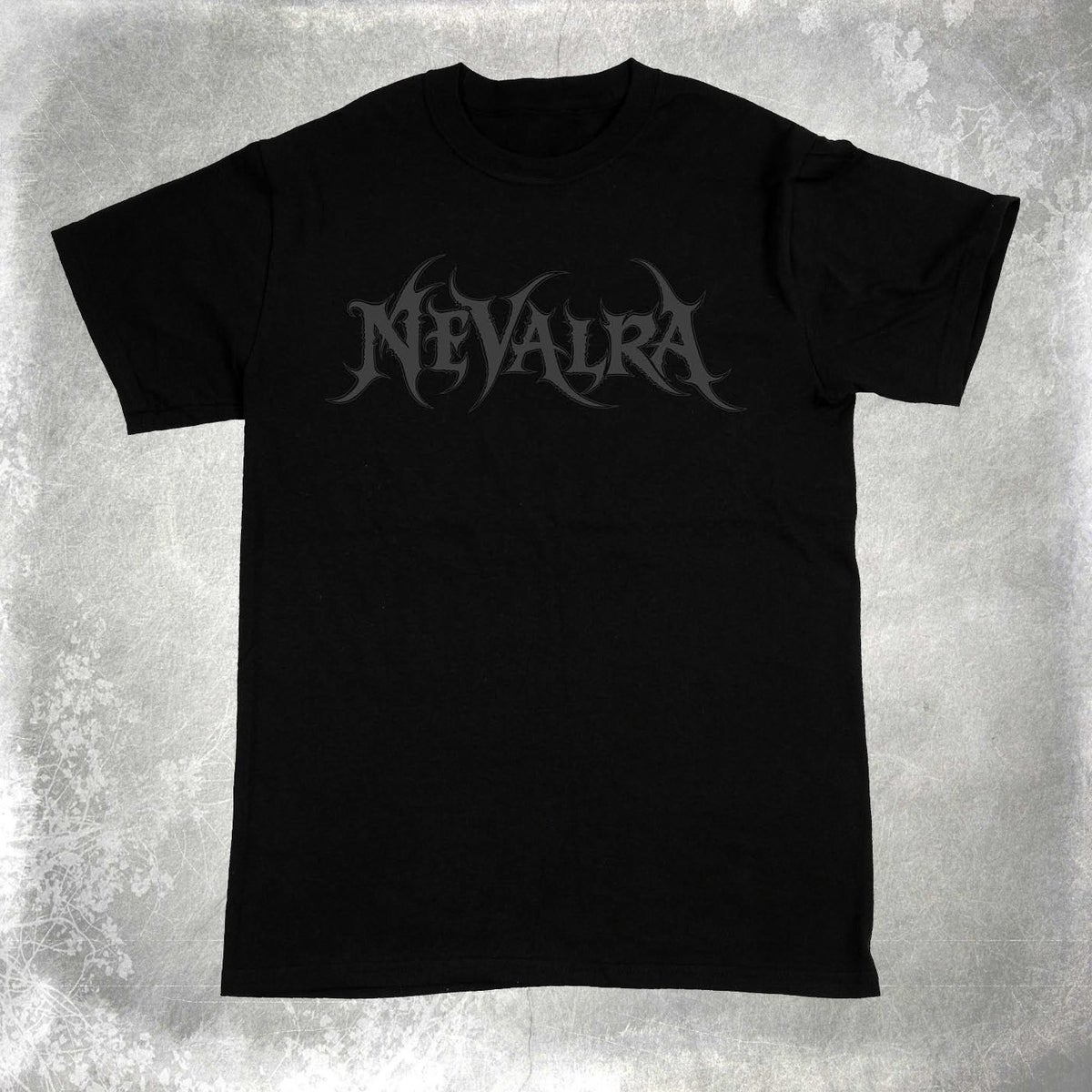 "Image of NEVALRA - ""Black on Black"" Logo Shirt"