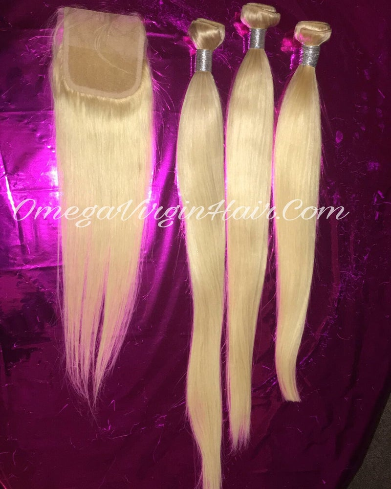Image of 🚨🚨PLATINUM BLONDE 3 BUNDLES + CLOSURE SALE