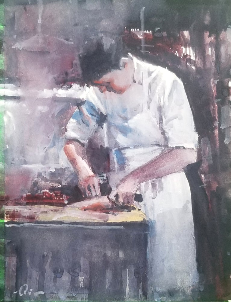 Image of Valentine Chef print